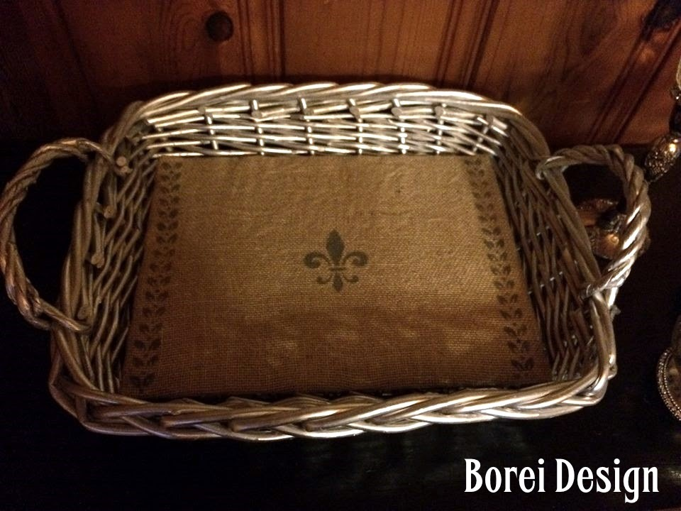how to makeover thrift store serving basket