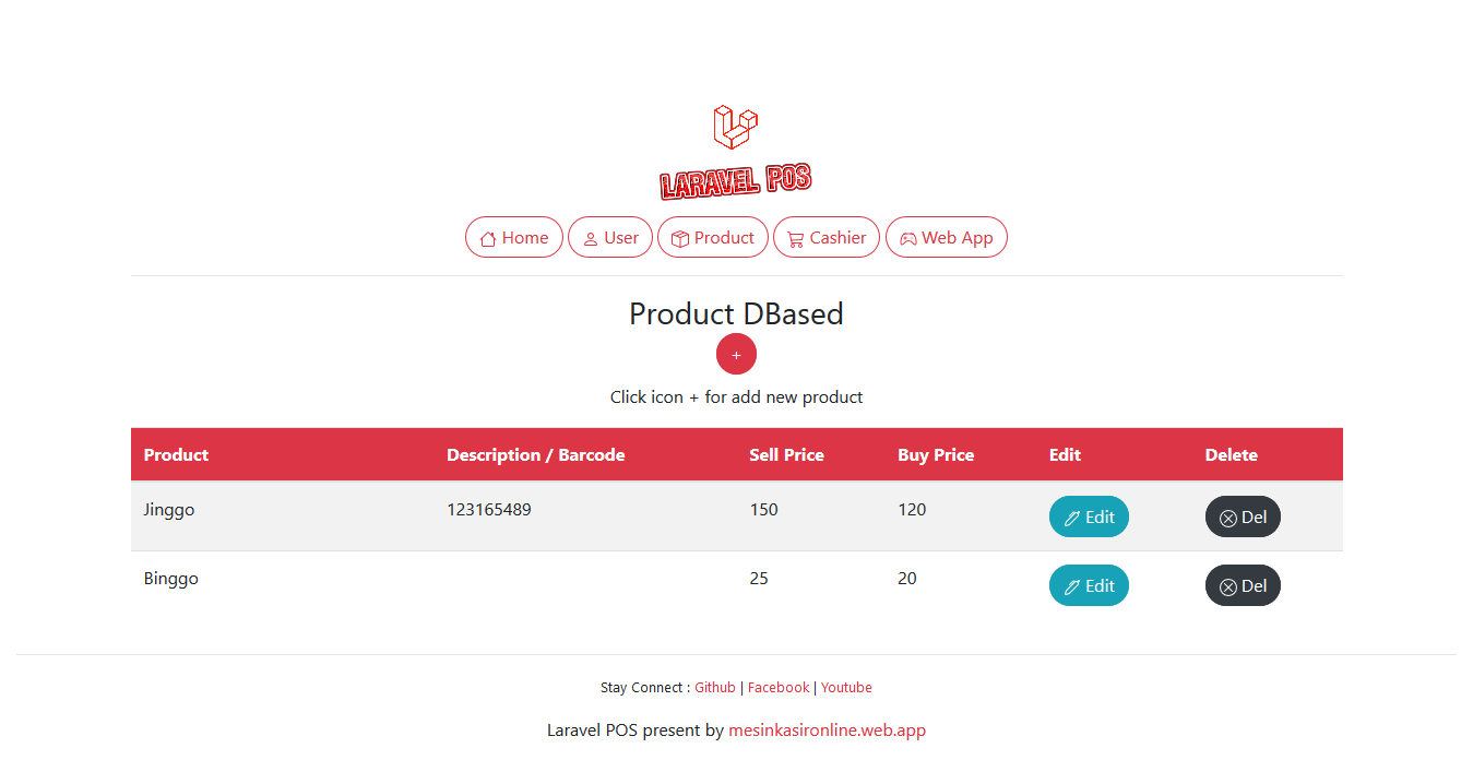 Free download source code point of sale using laravel php artisan, aplikasi kasir gratis download.