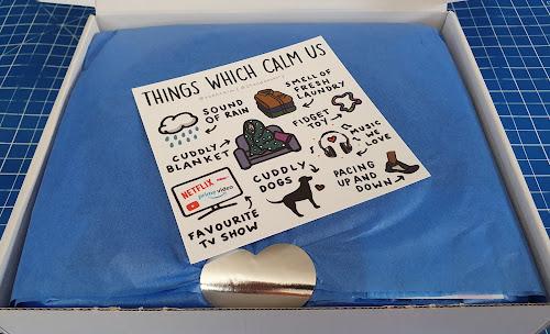 Teen calm box review inside inspirational card
