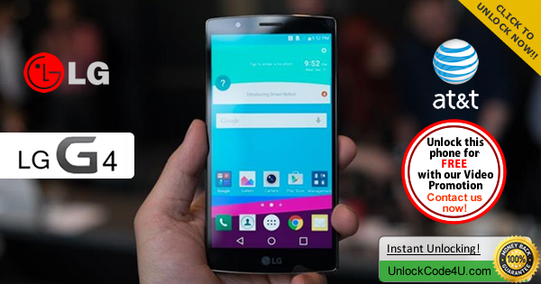 Factory Unlock Code LG G4 from At&t