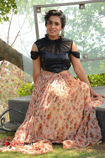Actress Chetana Uttej Stills in Floral Long Skirt at Pichiga Nachav Movie Press Meet  0091.JPG