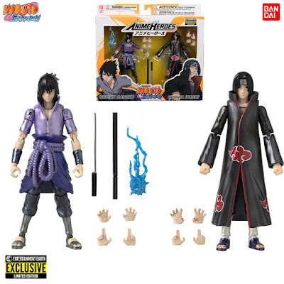 San Diego Comic-Con 2020 Exclusive Anime Heroes Naruto Shippuden Itachi & Sasuke Uchiha Action Figure 2 Pack by Bandai