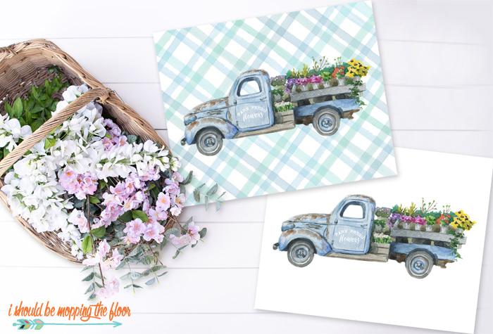 Flower Truck Printables