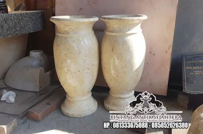 Kerajinan Vas Bunga Marmer