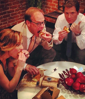 Bobby Flay Alton Brown Giada De Laurentiis at Seoul Sausage