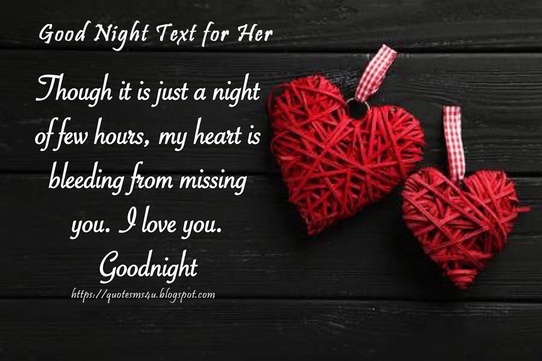 For her best goodnight text 320+ UNFORGETTABLE