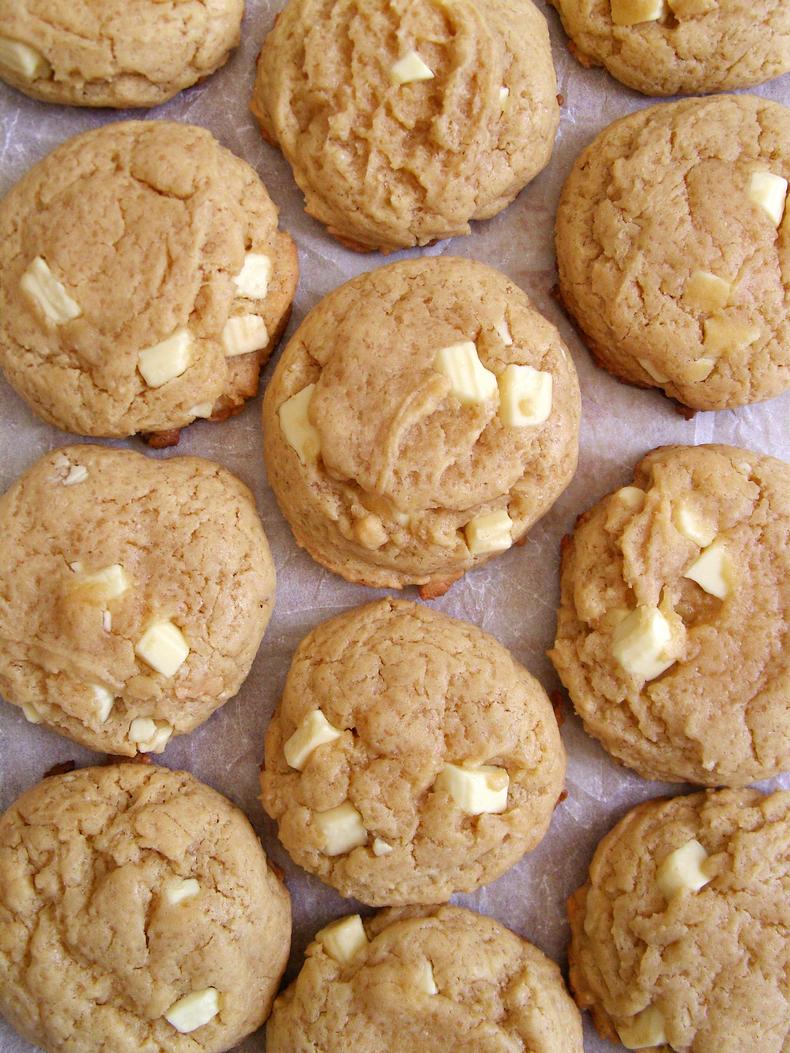 Cookies Crème de Nougat et Pépites de Chocolat Blanc