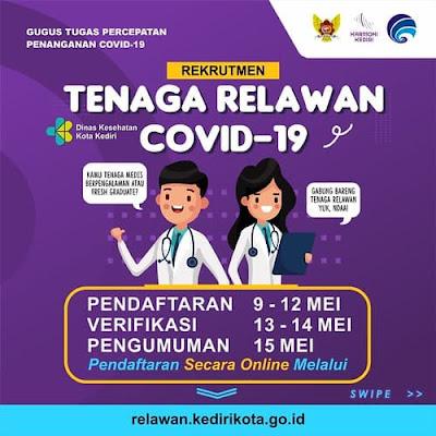 Pemkot Kediri Membuka Lowongan Tenaga Relawan Covid-19