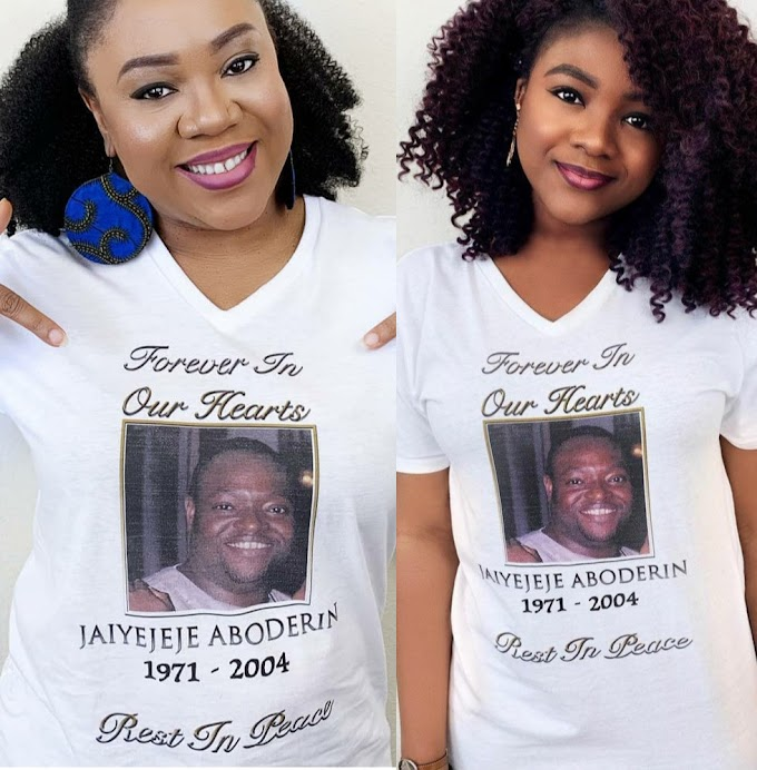 Stella Damasus, alongside her daughter, remember her late husband on the 16th anniversary of his death