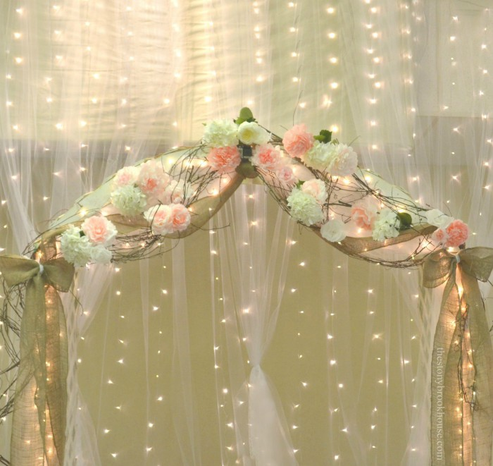 Wedding Arch with Coffee Filter Peonies
