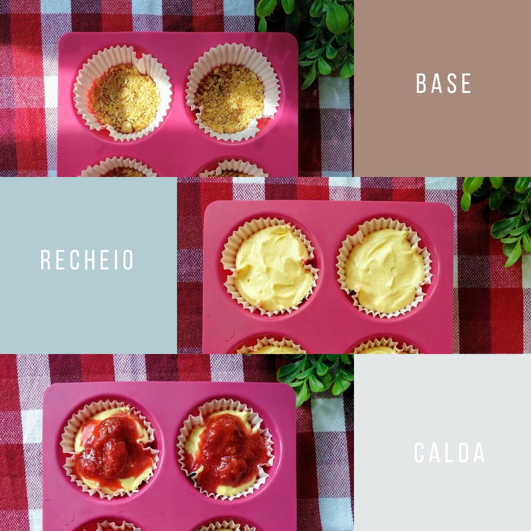 Receita: Mini Cheesecakes Fit Low Carb e Baixos em Calorias