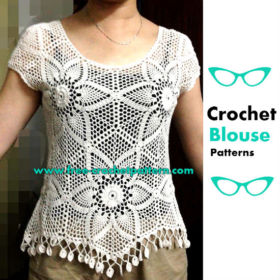 Hexagon Crochet Blouse Patterns Free Crochet Patterns