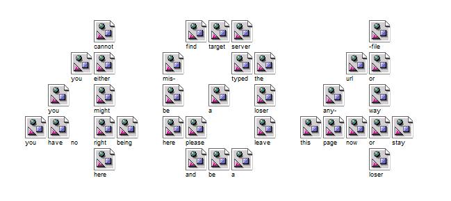 cannot find target server file
