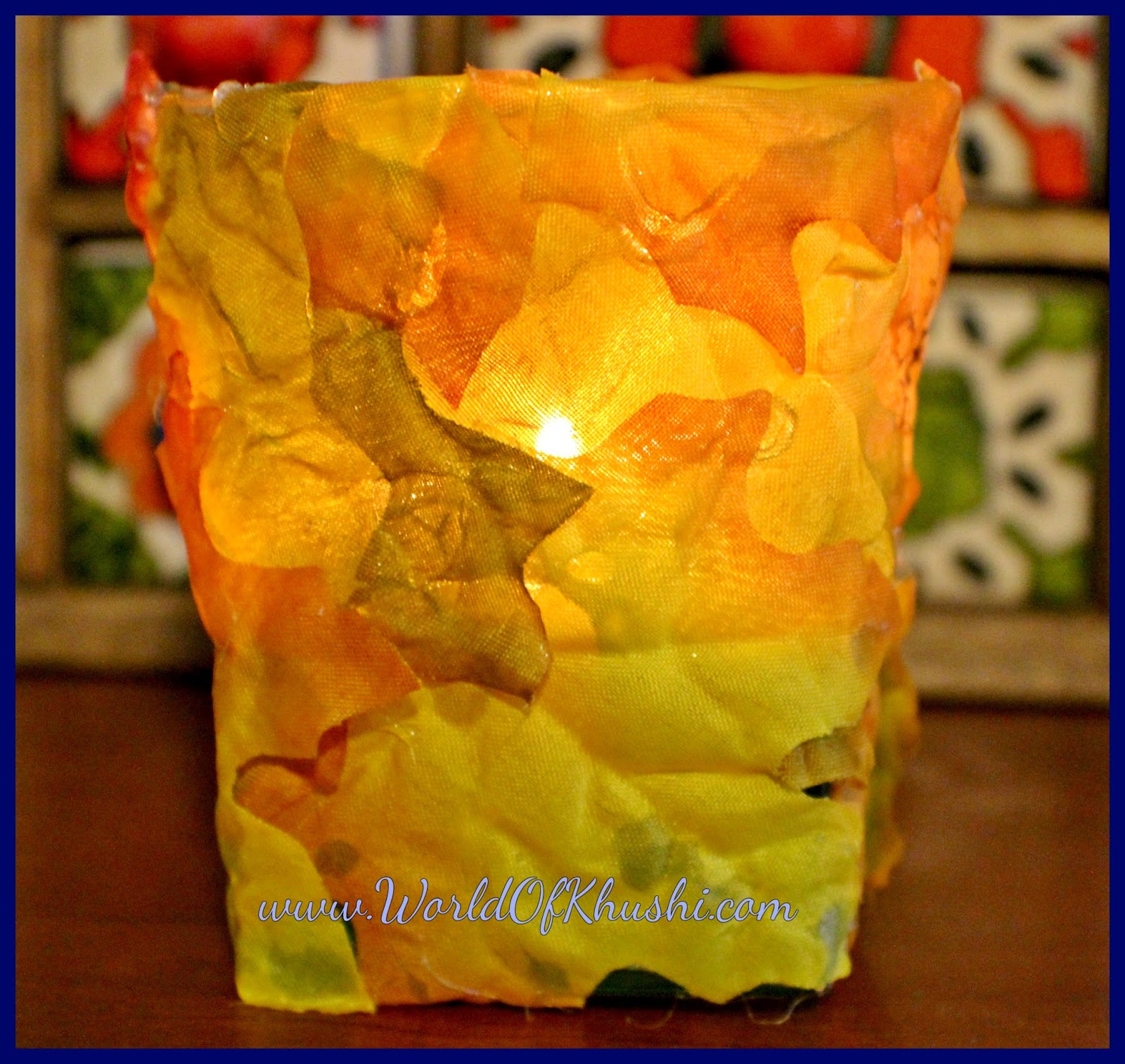 KhushiWorld: Autumn Leaves Candle Holder