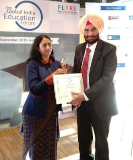 Bhartiya Skill Development University's Dr.Rajendra Kumar Joshi, Dr. (Brig.) Surjit Singh Pabla awarded for exceptional work in field of education at EAIE