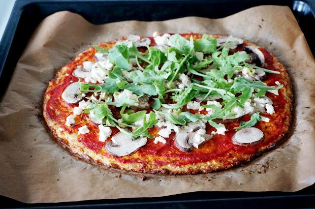 pizzabotten med blomkål