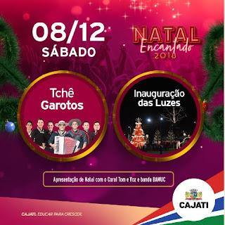 Sábado é dia da abertura do Natal Encantado 2018 de Cajati