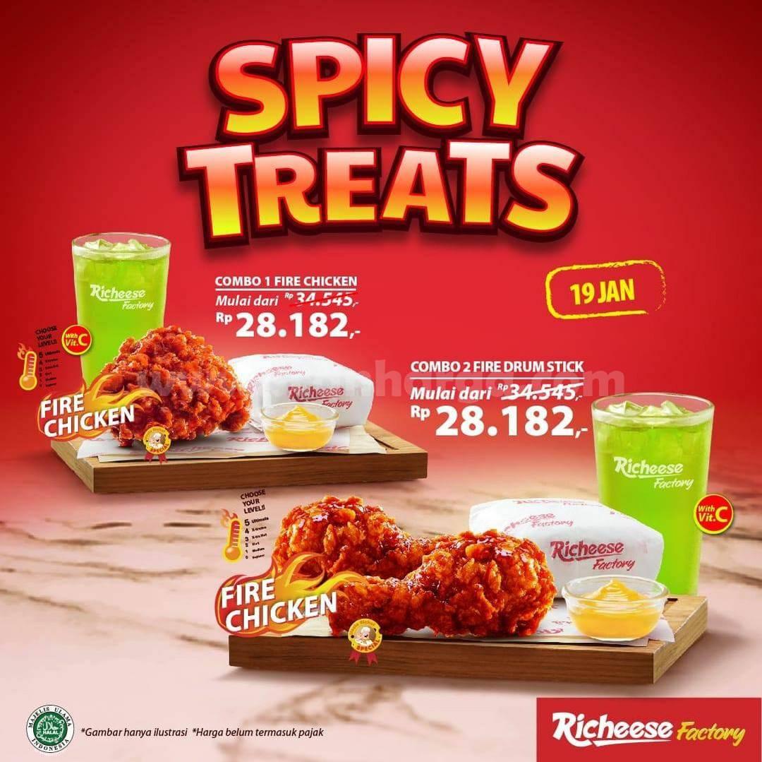 Promo RICHEESE FACTORY – Menu Spicy Treat Harga Spesial mulai Rp 28.182