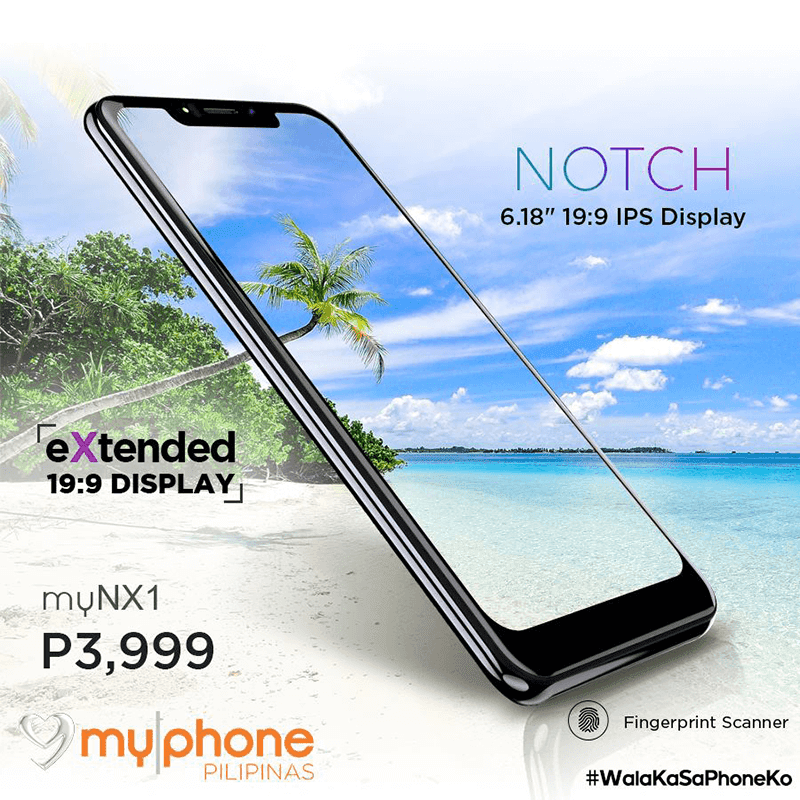 MyPhone releases the myNX1, the cheapest with a notch in the Philippines