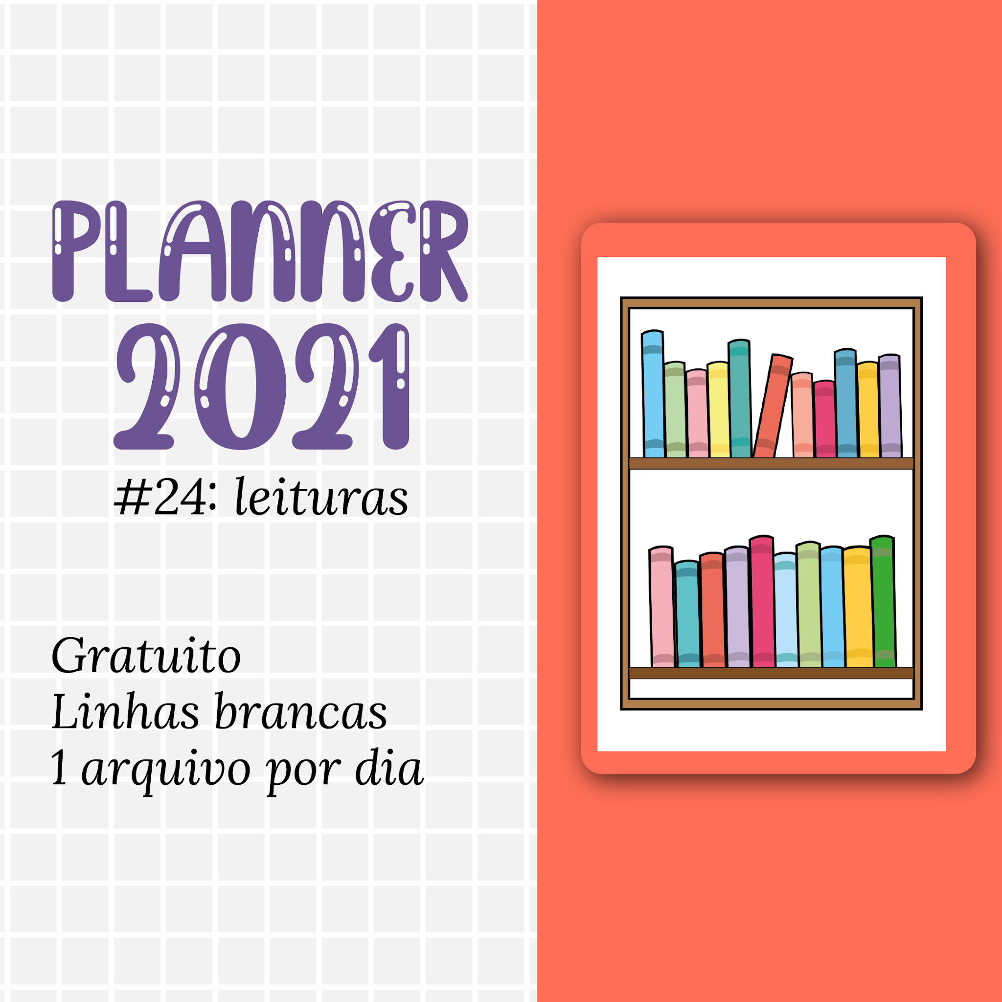 PLANNER 2021 #24: leituras gratuito para download