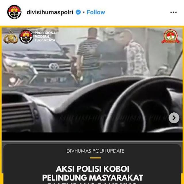Pria Berpistol di Lembang, Mabes Polri: Polisi Koboi Pelindung Masyarakat