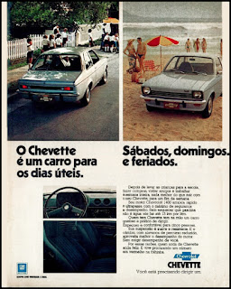 propaganda Chevette 1975, Chevette 75, GM anos 70, Chevrolet década de 70, carros Chevrolet anos 70, Oswaldo Hernandez,