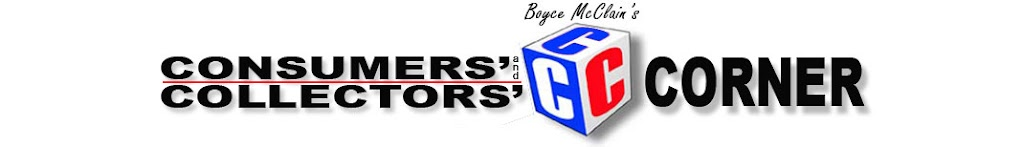 Boyce McClain's Consumers' and Collectors' Corner