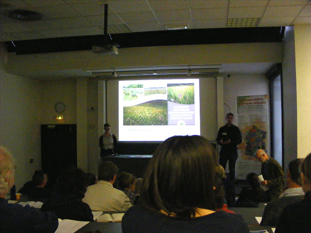 Early career botanists presenting at a conference in Tours.  Indre et Loire, France. Photographed by Susan Walter. Tour the Loire Valley with a classic car and a private guide.