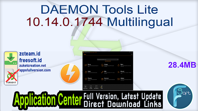 DAEMON Tools Lite 10.14.0.1744 Multilingual