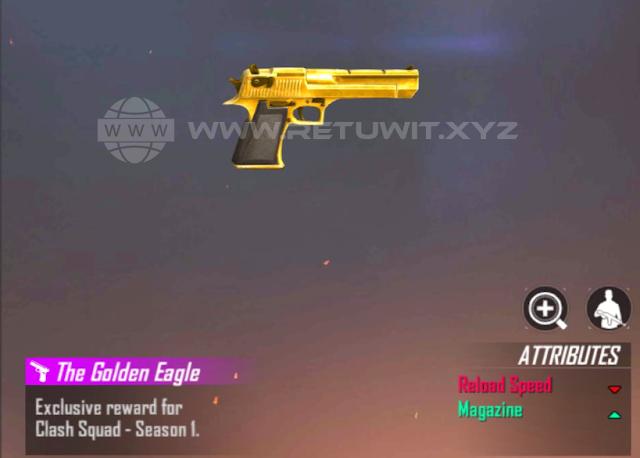 Cara Mendapatkan Skin Desert Eagle Golden Gratis Permanen Free Fire