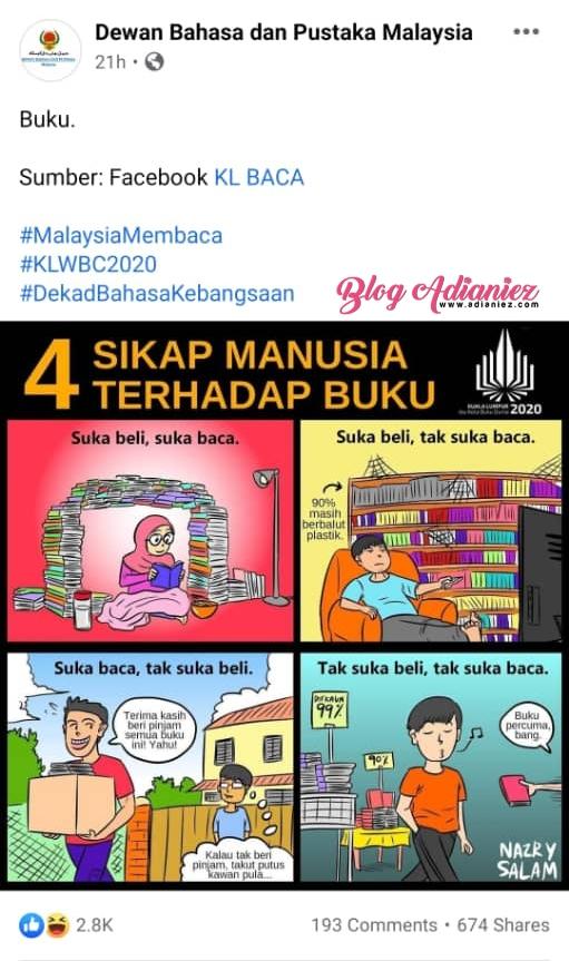 #MalaysiaMembaca | Sikap Kita Terhadap Buku