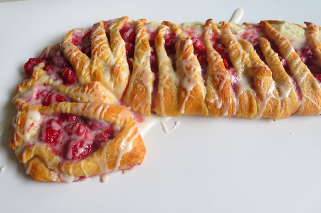 Raspberry Candy Cane Danish