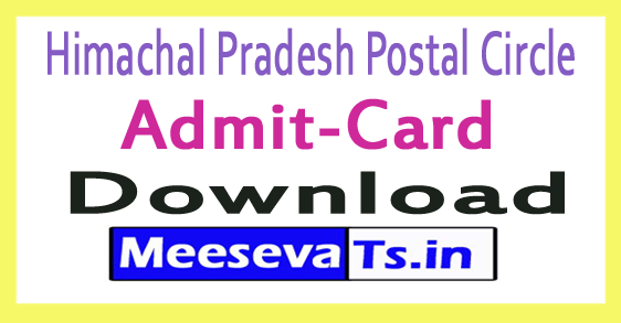 Himachal Pradesh Postal Circle Admit Card Download 2017