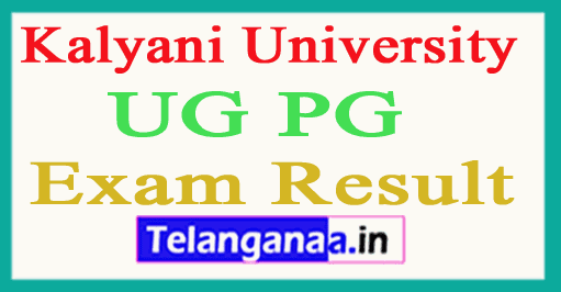 Kalyani University Results  Kalyani University UG PG Results