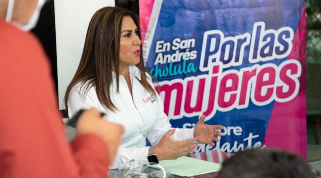 Blanca Jiménez aun confía en conseguir la candidatura a la alcaldía de San Andrés Cholula