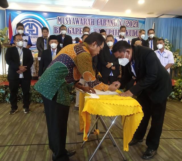Muscab X BPC Gapensi Kudus 2021 - 2026 Dapuk Moh Sugiyanto Sebagai Ketua Terpilih