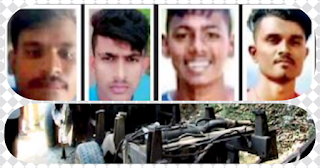 Cab in accident at Menikhinna -- four youngsters embrace death