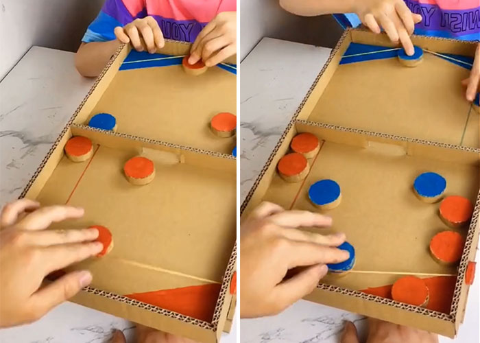 How to Make a Parent-Child Game Player from Cardboard  Home activity (1)
