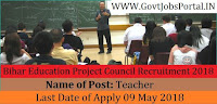 Bihar Education Project Council Recruitment 2018-Teacher