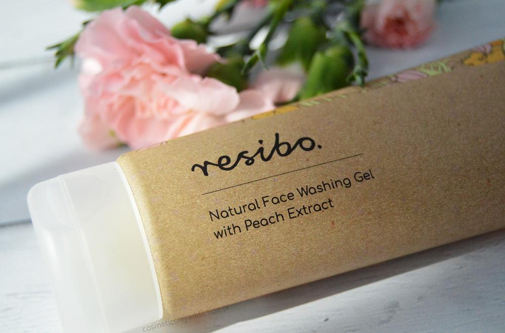 Resibo naturalny żel myjący do twarzy z ekstraktem z brzoskwini