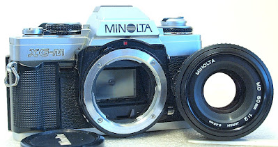 Minolta XG-M (Chrome) Body #989, Minolta MD 50mm F2 #519