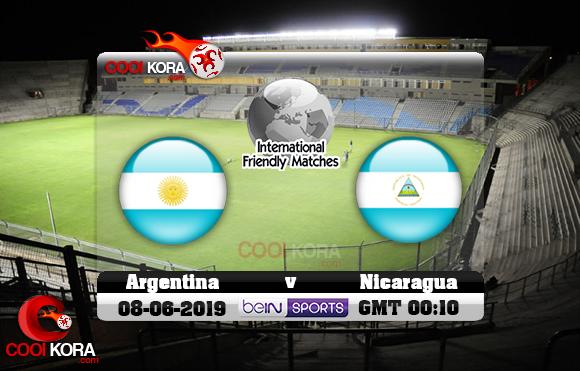 مشاهدة مباراة الأرجنتين ونيكاراغوا اليوم 7-6-2019 مباراة ودية