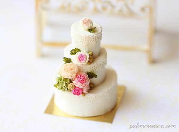 Dollhouse Design Cake : Dollhouse Miniatures, Miniature Food Jewelry, Craft ...