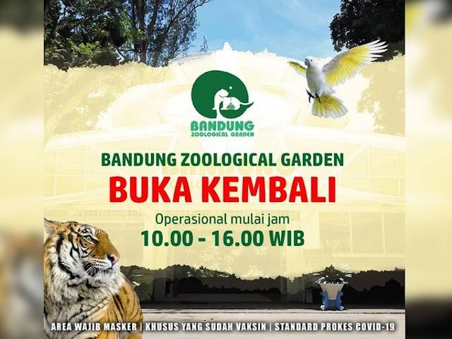 Mulai 27 September 2021, Kebun Binatang Bandung Dibuka Kembali, Ini Syarat dan Harga Tiket Masuknya