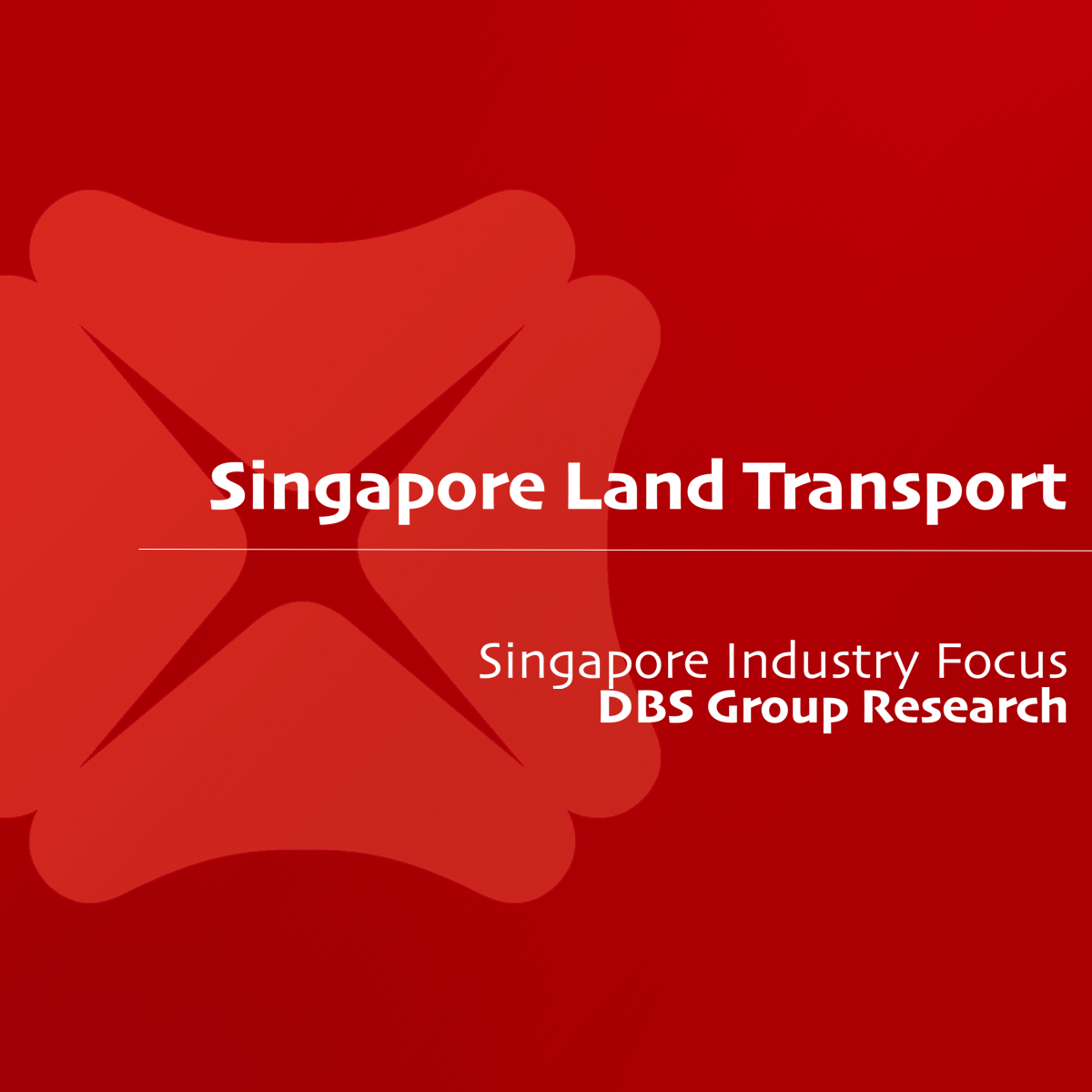 Singapore Land Transport - DBS Group Research | SGinvestors.io