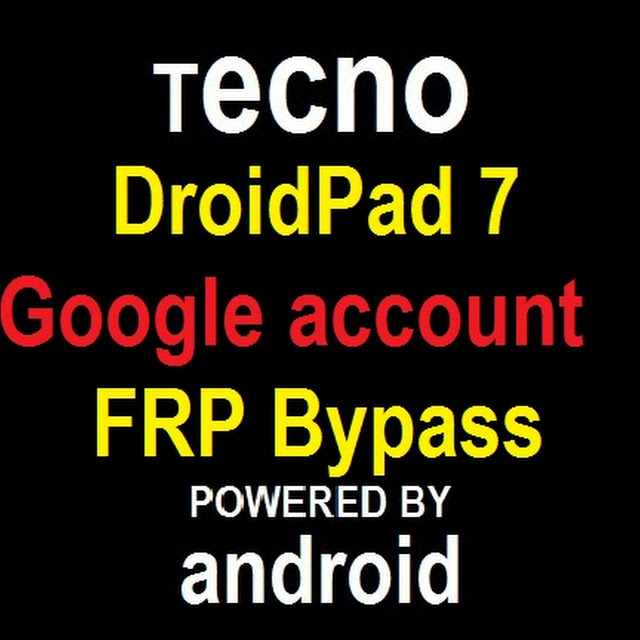 Tecno DroidPad 7D P701 google account reset and FRP bypass in 10