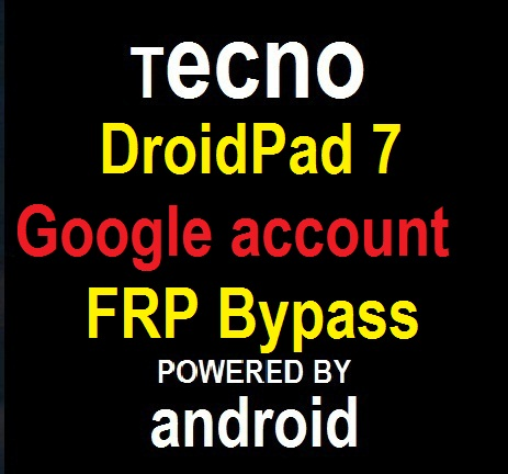 Tecno DroidPad 7D P701 google account reset and FRP bypass in 10 seconds.