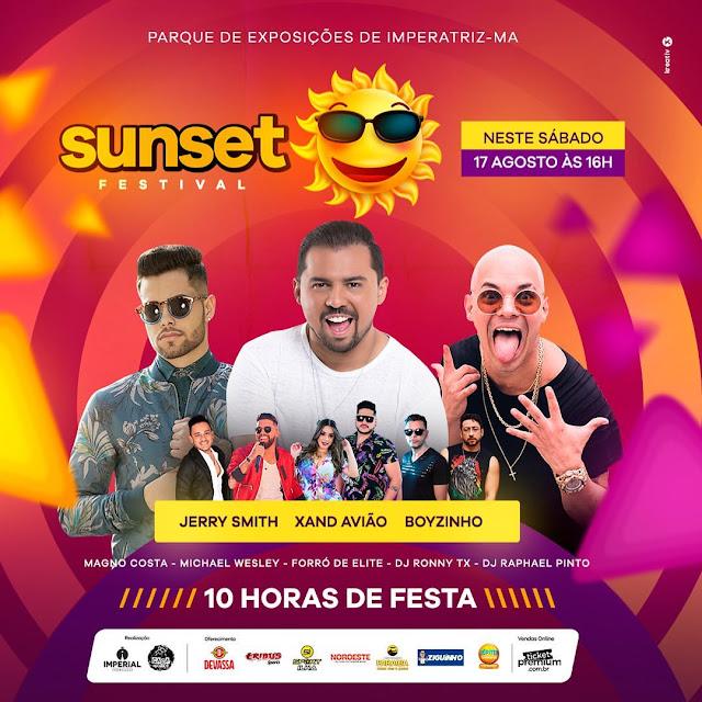 Sunset Festival - O maior festival de musicas da região acontecerá nesse sábado, serão 10 horas de musicas!!!