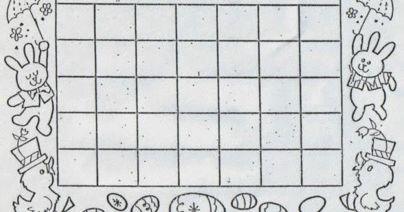 Kat's Almost Purrfect World: Calendar for April to Color In