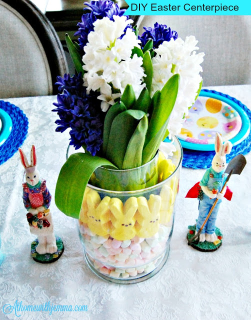 centerpiece, Easter, Peeps, easy, cute, fun, kids, athomewithjemma.com